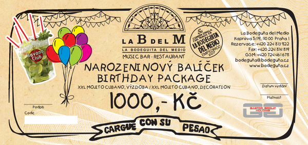 Birthday package LaBdelM 1000 CZK